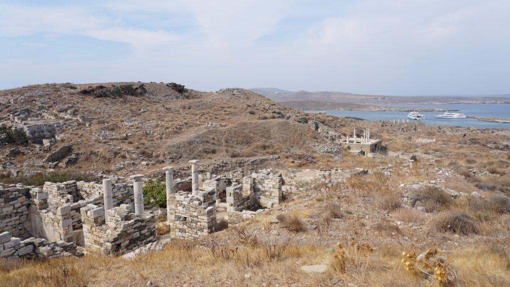 Vista sul sito archeologico di Delos