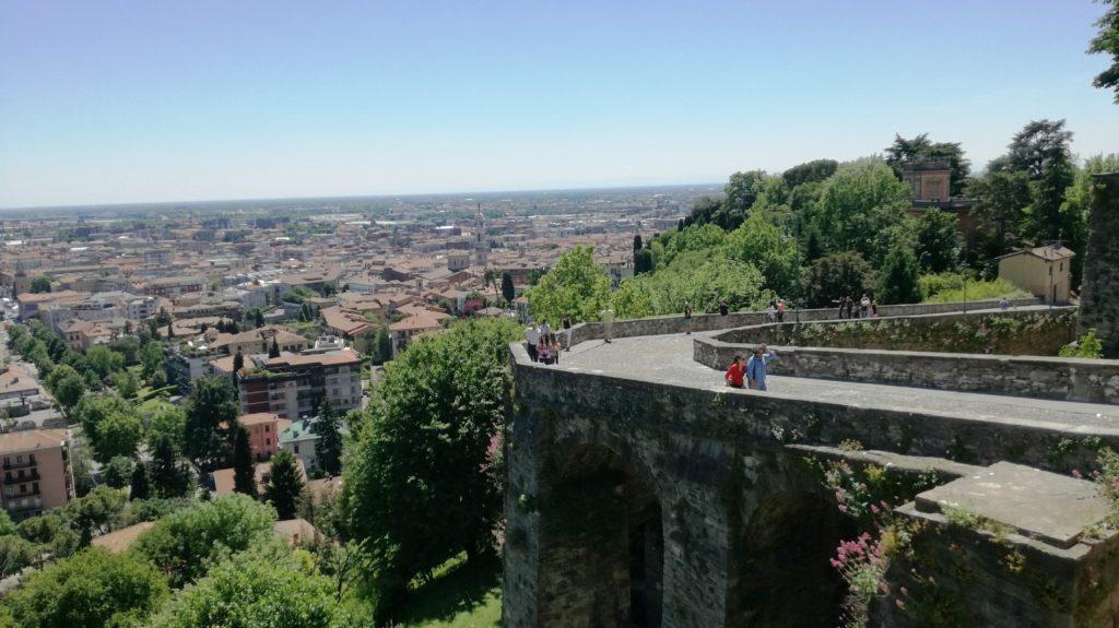Bergamo Alta: il panorama da porta San Giacomo